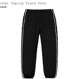 シュプリーム(Supreme)のブラック Mサイズ Tonal Taping Track Pant(ワークパンツ/カーゴパンツ)