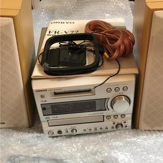 オンキヨー(ONKYO)のオンキョー CD.MDコンポ FR-V77(アンプ)