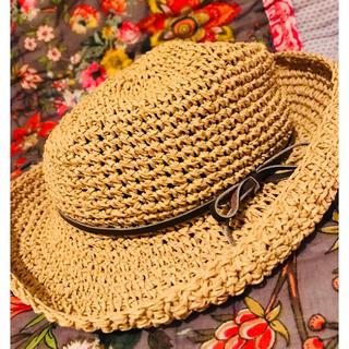 ホリデイ(holiday)の【3連休お値下げ】♡holiday♡ひゃん♡麦わら帽子♡(麦わら帽子/ストローハット)