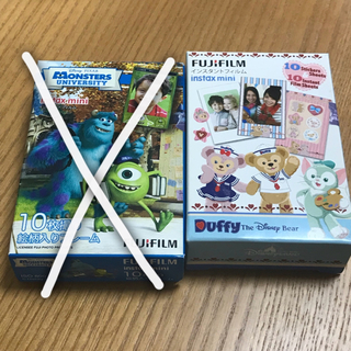 ディズニー(Disney)の【新品.未使用】チェキ instax mini☆インスタントフィルム(フィルムカメラ)