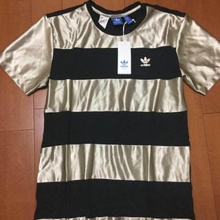 アディダス(adidas)のadidas originals ミニワンピース シャツ Tシャツ Mサイズ(ミニワンピース)