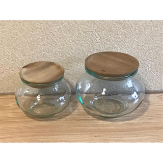 イッタラ(iittala)のWECK ウェック ガラスキャニスター二個セット(容器)