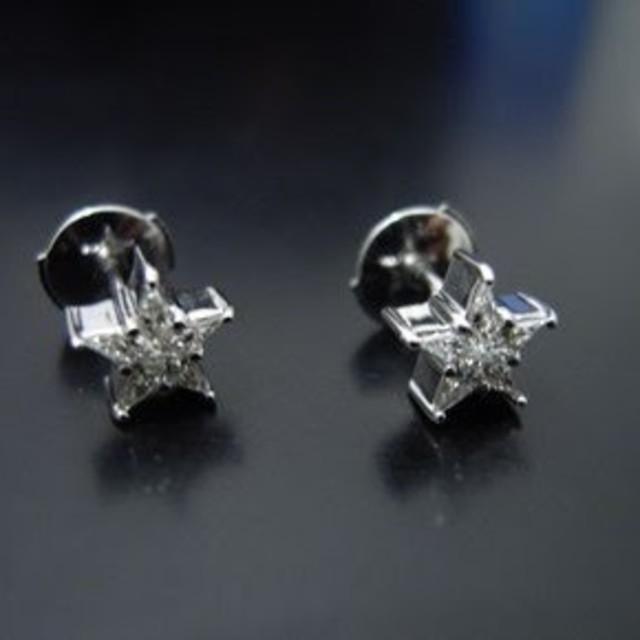EYEFUNNY(アイファニー)のeyefunny アイファニー スモールスターピアス ダイヤモンド WG メンズのアクセサリー(ピアス(両耳用))の商品写真