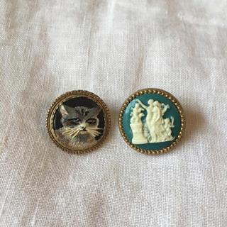 ジェーンマープル(JaneMarple)のジェーンマープル ボタン ピアス 猫(ピアス)