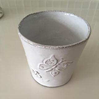アッシュペーフランス(H.P.FRANCE)の Astier de Villatte Fleurs すずらん 蝶々 コップ(グラス/カップ)