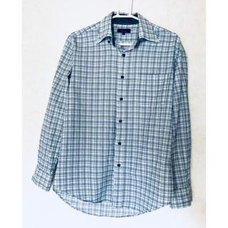 シマムラ(しまむら)のシャツ チェック青 M(シャツ)