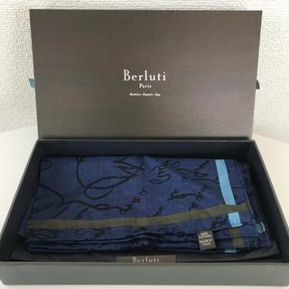 ベルルッティ(Berluti)の美品❤️ ベルルッティ ポケットチーフ カリグラフィ(ハンカチ/ポケットチーフ)