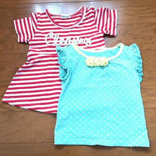 シマムラ(しまむら)の☆女の子2枚セット 90☆(Tシャツ/カットソー)