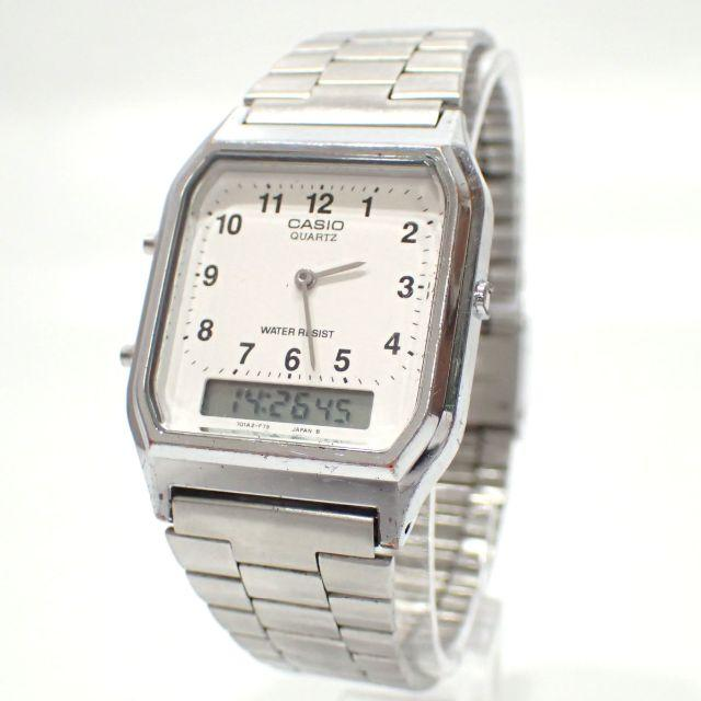 CASIO(カシオ)のA646 カシオ スタンダード メンズ クォーツ アナデジ 白文字盤 純正SSベ メンズの時計(金属ベルト)の商品写真