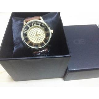 6e65f45a23 エイソス(asos)のASOS Grid Round Dial Watch - Tan (腕時計)