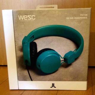 ウィーエスシー(WeSC)のwesc 新品 ヘッドホン グリーン ファッションのアクセントに(ヘッドフォン/イヤフォン)
