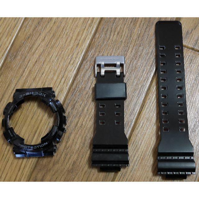 CASIO(カシオ)の【G-SHOCK】 外装セット ベゼル&ベルト ブラック メンズの時計(ラバーベルト)の商品写真