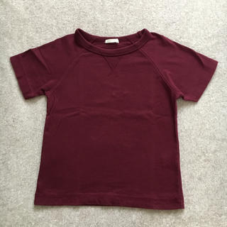 ジーユー(GU)のGU  kids Tシャツ  110cm Wine red(Tシャツ/カットソー)