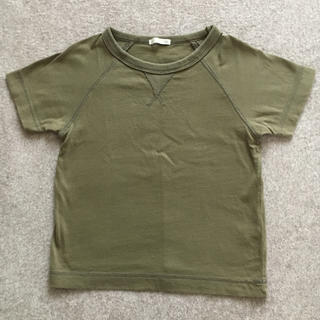 ジーユー(GU)のGU  kids Tシャツ  110cm Khaki(Tシャツ/カットソー)