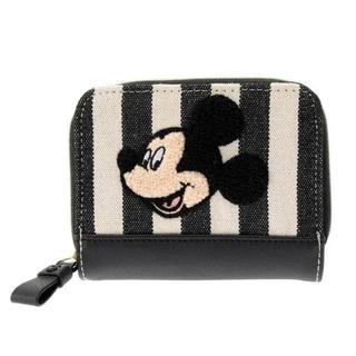 ディズニー(Disney)のディズニーストア 新作 ウォレット ミッキー さがら織 ベーシック 二つ折財布(財布)