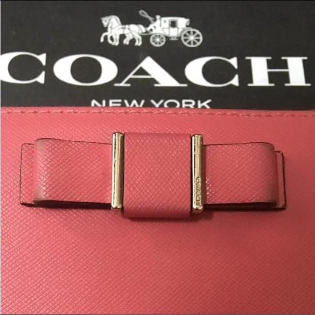 367cc19fc021 COACH - 美品!コーチ 長財布 ピンク リボン COACHの通販 by popo's shop ...