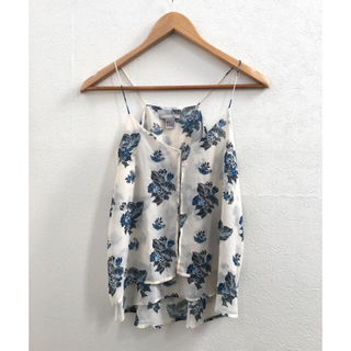 エイチアンドエム(H&M)のH&M購入) 花柄キャミソールとワイドパンツのセット //白 青(セット/コーデ)