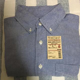 MUJI (無印良品) - 無印良品 オックスフォード ボタンダウンシャツ 長袖 ブルー S