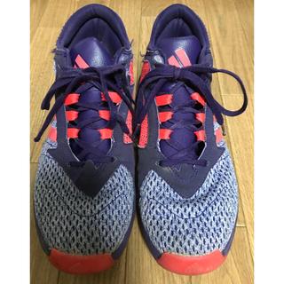 アディダス(adidas)のアディダス バッシュ adidas バスケットシューズ パープル 蛍光オレンジ(バスケットボール)