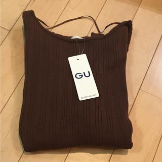 GU - 新品◎GU ワイドリブボートネックセーター 5分袖 ②