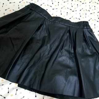 マーキュリーデュオ(MERCURYDUO)のレザースカートパンツ(ミニスカート)