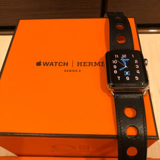 エルメス(Hermes)のApple Watch HERMES SERIS3 42ミリ セルラー おまけ付(腕時計(デジタル))