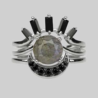 ユニフ(UNIF)の【新品】REGAL ROSE 眼球モチーフ3連リング(リング(指輪))