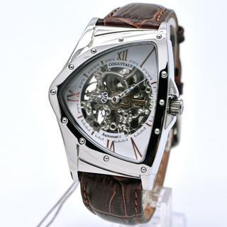 コグ(COGU)のコグ 腕時計 メンズ 自動巻き ホワイト ブラウン イタリア 時計(腕時計(アナログ))