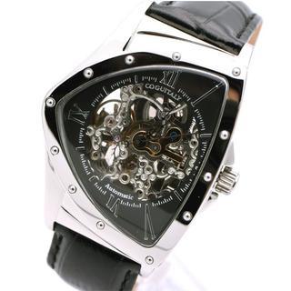 コグ(COGU)のコグ 腕時計 メンズ COGU スケルトン ブラック 黒 ブランド 三角形(腕時計(アナログ))
