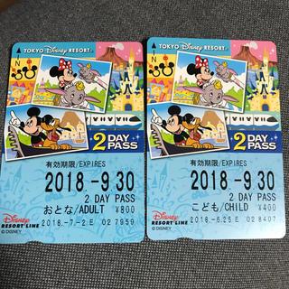 ディズニー(Disney)のディズニーリゾートライン♡2DAY PASS(遊園地/テーマパーク)