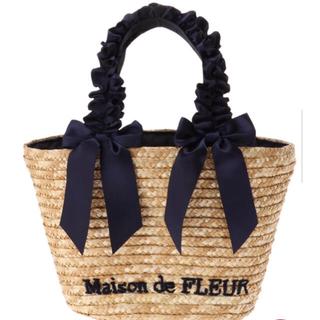 メゾンドフルール(Maison de FLEUR)のメゾンドフルール ✨カゴバッグ💕ネイビー💙(かごバッグ/ストローバッグ)