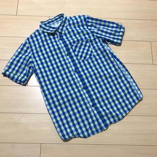 ザラ(ZARA)のZARA BOYS☆チェック半袖シャツ☆164cm☆ブルー☆ザラボーイ(ジャケット/上着)