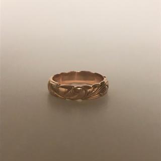 ★14k★ピンクゴールド★ハワイアンジュエリーwaileaのオーダーリング★(リング(指輪))