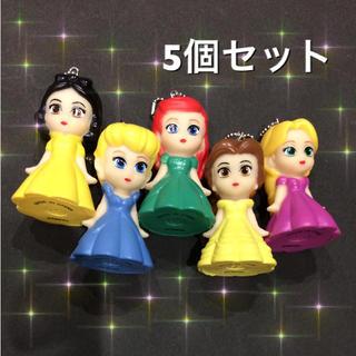 ディズニープリンセス ソフビ人形 5個(キャラクターグッズ)