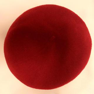 アースミュージックアンドエコロジー(earth music & ecology)のベレー帽 赤(ハンチング/ベレー帽)