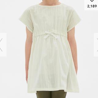 ジーユー(GU)のGUサイドスリットチュニック半袖120(Tシャツ/カットソー)