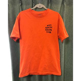 アンチ(ANTI)のanti social social club Tシャツ オレンジ(Tシャツ/カットソー(半袖/袖なし))