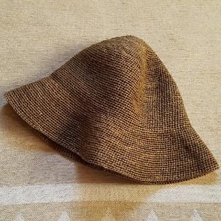 ムジルシリョウヒン(MUJI (無印良品))の無印良品 ラフィアハット ブラウン(麦わら帽子/ストローハット)