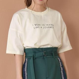ダブルクローゼット(w closet)の最終お値下げwcloset ロゴプリントTシャツ(Tシャツ(半袖/袖なし))