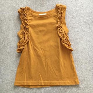 ジーユー(GU)のGU kids フリルタンクトップ 110cm Yellow(Tシャツ/カットソー)
