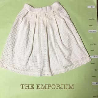 ジエンポリアム(THE EMPORIUM)の【THE EMPORIUM】 レーススカート(ひざ丈スカート)
