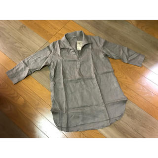 ムジルシリョウヒン(MUJI (無印良品))の値下げ 新品 無印良品 フレンチリネン七分袖チュニック(チュニック)