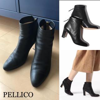 ペリーコ(PELLICO)の良品⭐️送料無料/PELLICO/ペリーコ/バックジップ ショートブーツ 37(ブーツ)