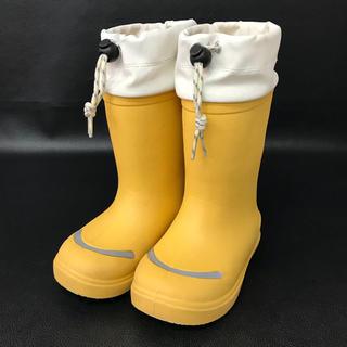 ムジルシリョウヒン(MUJI (無印良品))の特売! 本日限定!  無印 レインブーツ 長靴 黄色 イエロー ながぐつ 子供(長靴/レインシューズ)