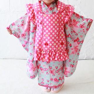 メゾピアノ(mezzo piano)の七五三 着物 3歳 女の子 被布 mezzo piano(和服/着物)