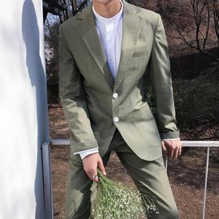 メンズスーツ 2点セット 春夏 ネイビー 即購入ok 送料込み (スーツジャケット)