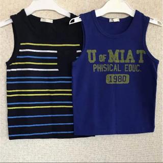 ジーユー(GU)のタンクトップ 二枚組 110(Tシャツ/カットソー)