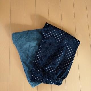 シマムラ(しまむら)のレギンス2枚組L+スカラップパンツS(レギンス/スパッツ)
