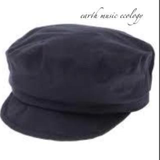 アースミュージックアンドエコロジー(earth music & ecology)のアース 未使用 キャスケット 黒(キャスケット)