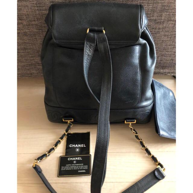 e07a8b968bc2 CHANEL(シャネル)の正規品 CHANEL ビンテージ リュック キャビアスキン レディースのバッグ(